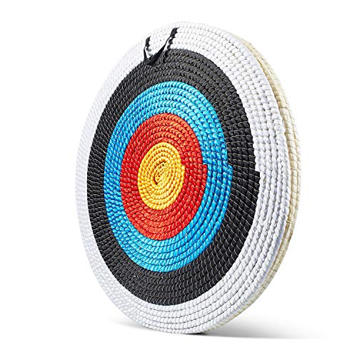 KAINOKAI Traditional Hand-Made Straw Archery Target,Arrow Target for Recurve Bow Longbow or Compound Bow(A Traditional Target Dia Φ:31.5in / 3 Layers)