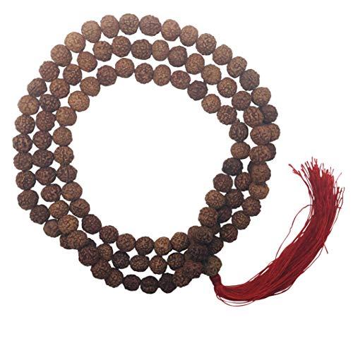 The Bo Tree 108 Perline Mala Commercio Equo e Solidale Rudraksha Mantra, 10 mm, realizzate a Mano in Nepal Buddha Buddista Meditazione indù e N/A, Colore: Marrone, cod.