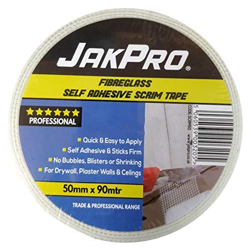 Scrim Tape - Cinta adhesiva para yeso (fibra de vidrio, 48 mm o 100 mm)