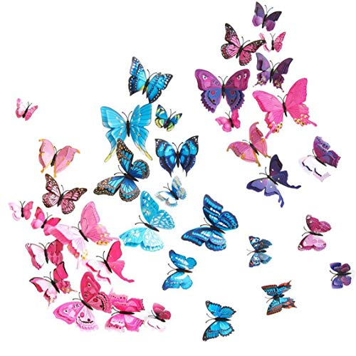Oro despegar Pegatinas-Mariposas Mariposa Fondo Blanco