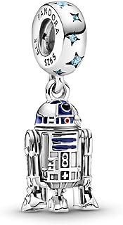 Pandora 799248C01 - Colgante de plata de ley con diseño de Star Wars R2-D2