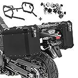 Maletas Laterales Aluminio + Soporte para Suzuki V-Strom 650 / XT 17-21 GX45 Negro