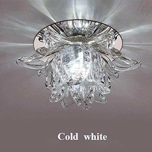 Flush Plafond Licht Plafond Lampen Kleurrijke Led Lotus Kristal Plafond Kroonluchter Licht Spot Licht voor Corridors Balkon gangen Creatieve Plafonnier Luminaire
