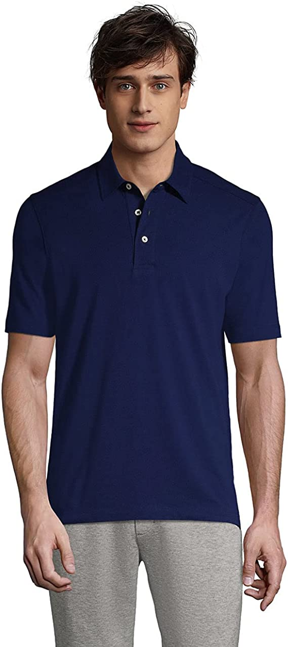 Lands' End Men's Traditional Fit Performance Polo