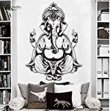 YIYEBAOFU niños Mayores Dormitorio Pegatinas de Pared nutrición, Etiqueta de la Pared Etiqueta engomada de Indai OM decoración Ganesh Vinilo Yoga hindú decoración82x115cm