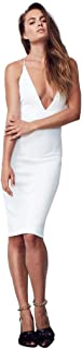 Best white lace high neck deep v mini dress Reviews