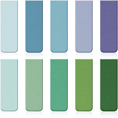 10 Piezas Marcadores de Libros Magnéticos Marcapáginas Coloridos Magnéticas Set de Marcadores de Página Surtidos para Estudiantes Profesores Lectura Papelería