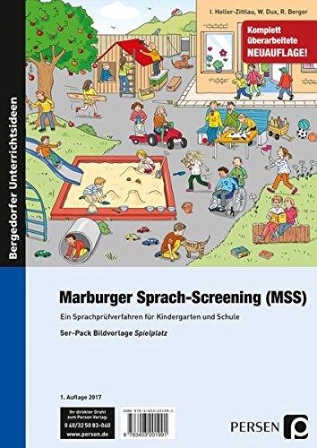 Marburger Sprach-Screening (MSS) - Bildvorlagen: Ein Sprachprüfverfahren für Kindergarten und Schule (1. Klasse/Vorschule)