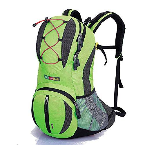 Le compartiment principal permet de ranger tous vo Multifunción Aplicar a un fanático de los deportes Mochilas Nylon Impermeable Viaje de camping al aire libre Caminando Montando Mochila de hombro Paq