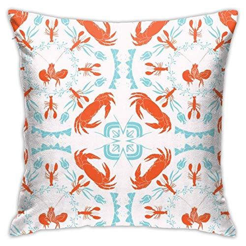 Funda de almohada, diseño de mandala, color naranja, blanco, turquesa, moderna, cuadrada, decoración para sofá, cama, silla, coche, 45,7 x 45,7 cm