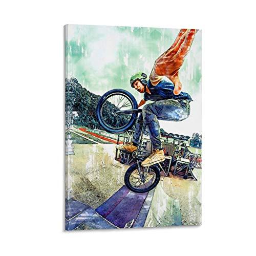 Diannao BMX For Life Extreme Poster decorativo su tela da parete per soggiorno, camera da letto, 20 x 30 cm