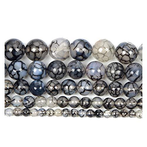 ZITENG CGBH Perlas de Piedra Natural Agates Tiger Ojo Amazonita Cuarzo Redondo Perlas Sueltas para joyería Que Hace Encanto para Pulseras Collares (Color : H7341, Talla : 10mm About 38Pcs)