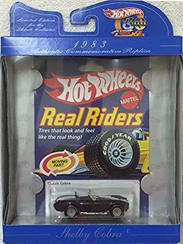 Hot Wheels 30th Anniversary Commerative Replica 1983 Real Riders Shelby Classic Cobra Blau ConGrünible
