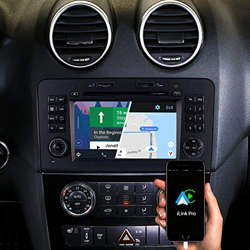 DYNAVIN N7-MBML Pro 7 Zoll Autoradio Navi GPS Navigation Für Mercedes ML W164 2005-2011 GL X164 2006-2012 : Unterstützung von DAB + Digitalradio iOS Android Auto BT Rückfahrkamera Ready USB