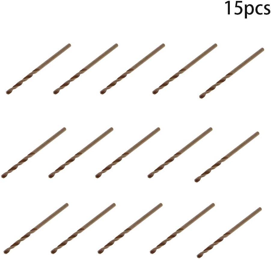 Utoolmart High Speed Steel Straight Shank Metal HSS-M35 Drill Twist Drill Set Power Tool Straight Shank Grinding Process Various 3.4mm Drill Diameter Champagne 10 pcs