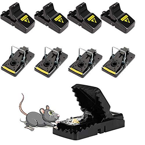 Secwell Juego de 8 Piezas Trampa para Ratón Profesional Rat Trap Reutilizable Segura y Eficaz Trampas de Plástico para Interiores y Exteriores Respuesta Rápida