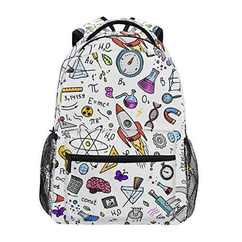 Galaxy Space Rocket Durable Backpack College School Book Shoulder Bag Daypack for Boys Girls Man Woman