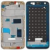 Liluyao Hdfht Panel Frontal de la Carcasa del Panel LCD para Huawei G7 Plus Piezas de Repuesto de Huawei (Color : Gold)