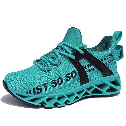 allchar Jungen Mädchen Sportschuhe Tennisschuhe Unisex-Kinder Sneakers Laufen Schuhe (35 EU, Rot, 35)