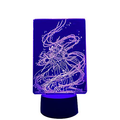 Luminária de LED The Ancient Magus Bride Anime para decoração de quarto, luz noturna, presente de aniversário, mangá, luz noturna, quarto, mesa 3D