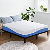 Olee Sleep 10 Inch Gel Infused Layer Top Memory Foam Mattress, Full, Blue