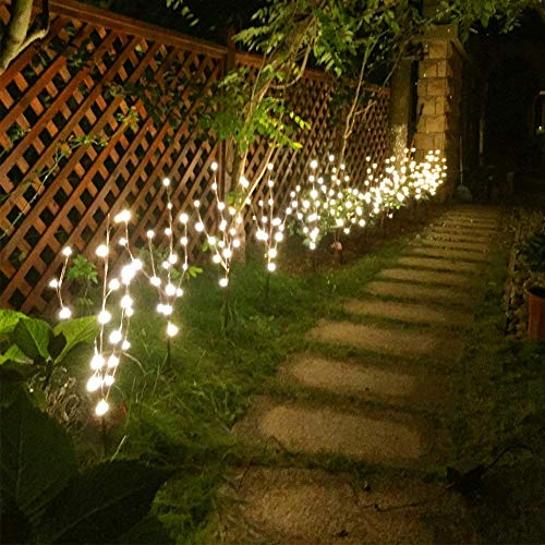 Vanthylit 3PK 30' Brown Lighted Twig Branches Pathway Light 60 LED Warm White Bulbs for Outdoor and Indoor