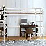 XIAOWEI Cama de Cabina para Dormir Alto con Escalera y