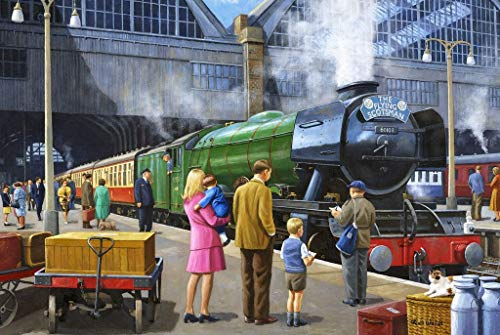 Wooden Puzzles For Adults - The Flying Scotsman At Kings Cross ( 1000 Piece Wooden Jigsaw Puzzle) - Entertainment DIY Toys for Creative Gift Home Decor