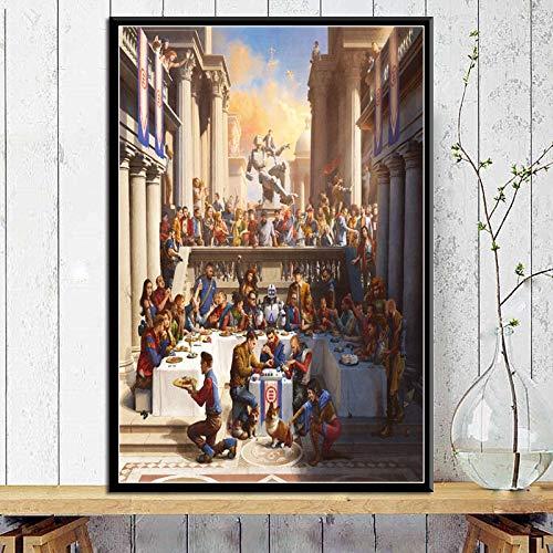 puissant Affiche de musique Sanzangtang et peinture sur toile gravée sans cadre 60X90cm
