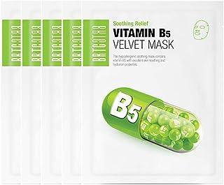 BRTC Vitamin B5 Velvet Mask (Pack of 5) for Soothing Relief, 25g
