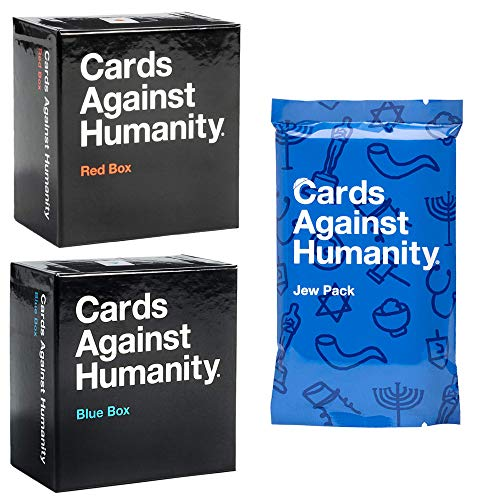 Cards Against Нumanity C A H Original Expansion Packs All Set Bundle Red Blue Box and Jew Pack