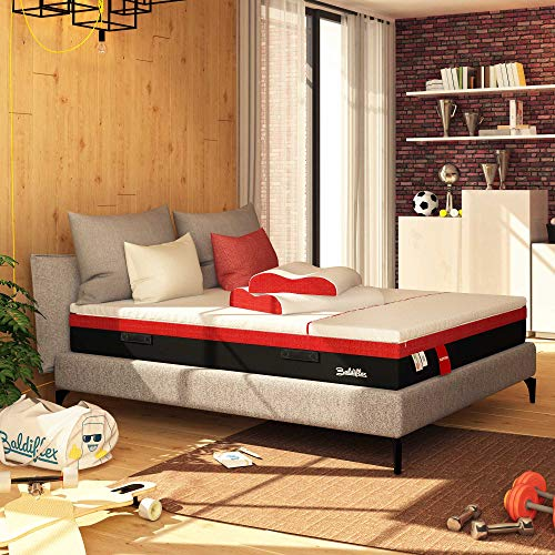 Baldiflex Single Memory Mattress with Micro Springs Hybrid Sport Floating Size 90 x 200 cm