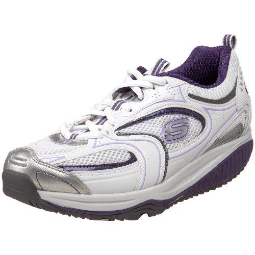 Skechers Shape Ups Xf Accelerators Damen, White/Purple, 37.5 EUR