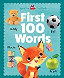 Happy Fox First Books: First 100 Words (Happy Fox Books) Wipe-Clean Cover, Safe Corners, and Words and Pictures of Foods, Toys, Animals, Insects, Sports, and More, for Babies and Toddlers Ages 1-3