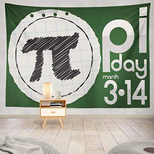 Tapiz de Pared,Pi Maths, Banner Redondo Círculo Fecha Día Doodle Evento Gradiente de geometría, Pi Maths Tapiz para el hogar 229x152cm