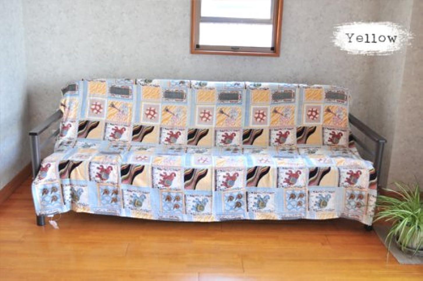 ピカソ蓮不十分マルチカバー そらとぶぞうさん イエロー 全3色 150×225cm