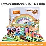 LukameJouets pour Bébé Livres en Tissu Jouets Éducatifs pour Nouveau-Nés pour Bébés Buillt In Bell pour Les Enfants 0-1-3 Ans
