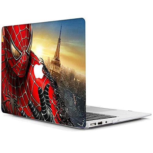 """Coque MacBook Air 13 Pouces 2018 2019 2020, Plastique Coque Rigide Cover pour Nouveau MacBook Air 13,3"""" Retina avec Touch ID Modèle:A1932 / A2179 - Spiderman DM-8"""