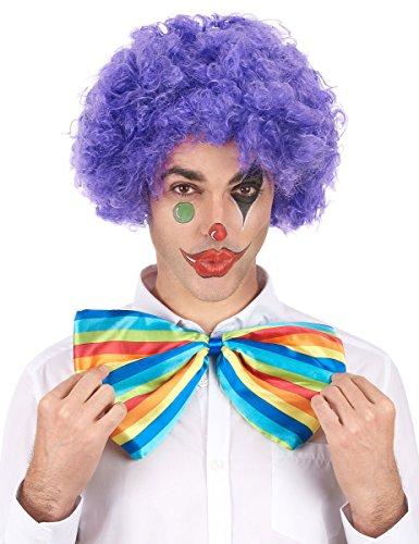 Perruque afro/ clown violette confort adulte - Taille Unique