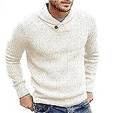 Hombres Suéter Invierno Casual Masculino De Lana Jersey De Moda Alta Calle Plisado Slim Fit Suéter De Punto De Los Hombres