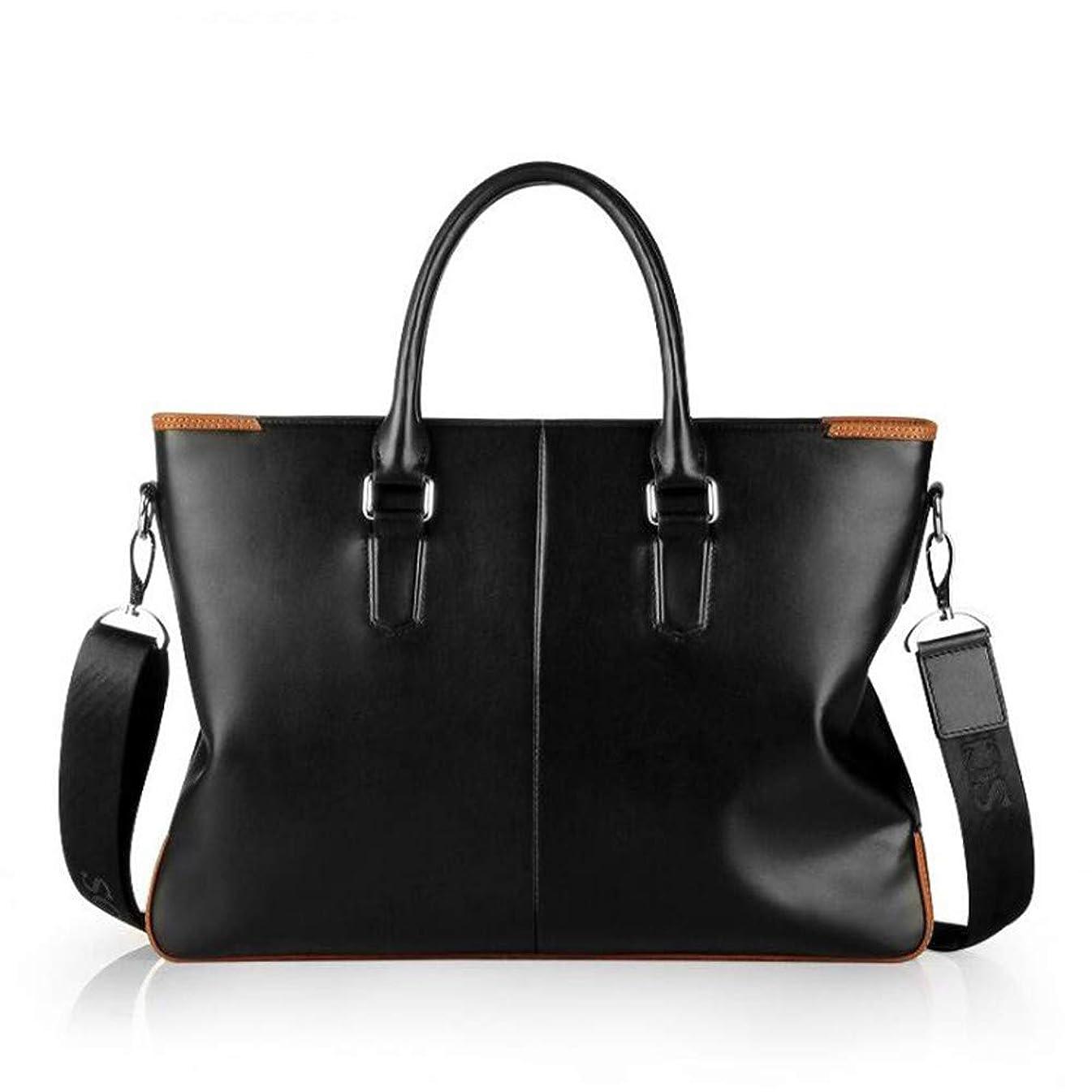 Liweibao Messenger Bag Mens Leather Briefcases Laptop Business Office Shoulder Handbags Messenger Bag Perfect for College Business