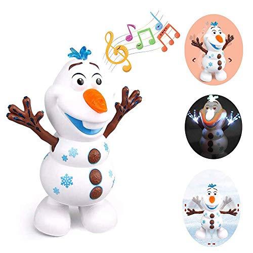 LIGHT HOME Elektrische tanzmusik schneemann Spielzeug, led Musik Taschenlampe elektrische Action Figure Modell Kinder Spielzeug Geburtstag Baby pädagogische Geschenke