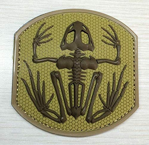 Navy Devgru Seal Team 6 Skeleton Frog Frogman 3D Military Patch PVC Badges Patch Tactical Stickers for Clothes with Hook (color3)