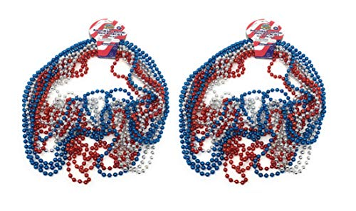 Red, White, & Blue Metallic Necklaces (24 Count)