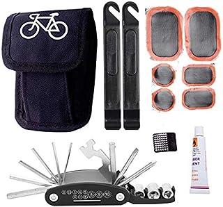 Rag & Sak® Bike Tool Kit, 16 in 1 Portable Cycling Bike Bicycle Tyre Repair Kits Tool kits Bag with Multi-function Tool Bi...