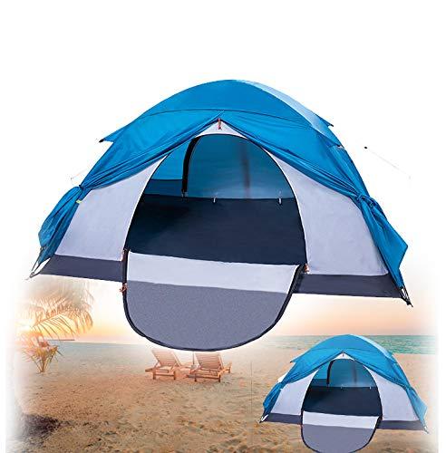 Tente De Plage Anti UV,Flexible Pliable Bâche Tente,2-3 Personne Pop Up Automatique Coupe Vent Imperméable (Bleue)