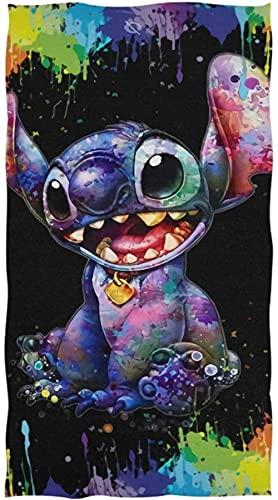 Lilo & Stitch - Toalla de playa de Disney Anime Lilo & Stitch para niños, diseño de dibujos animados (A01, 100 cm x 200 cm)