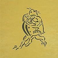 ステンシルシート 兎と蛙 鳥獣戯画 3サイズ型紙  (10cm)