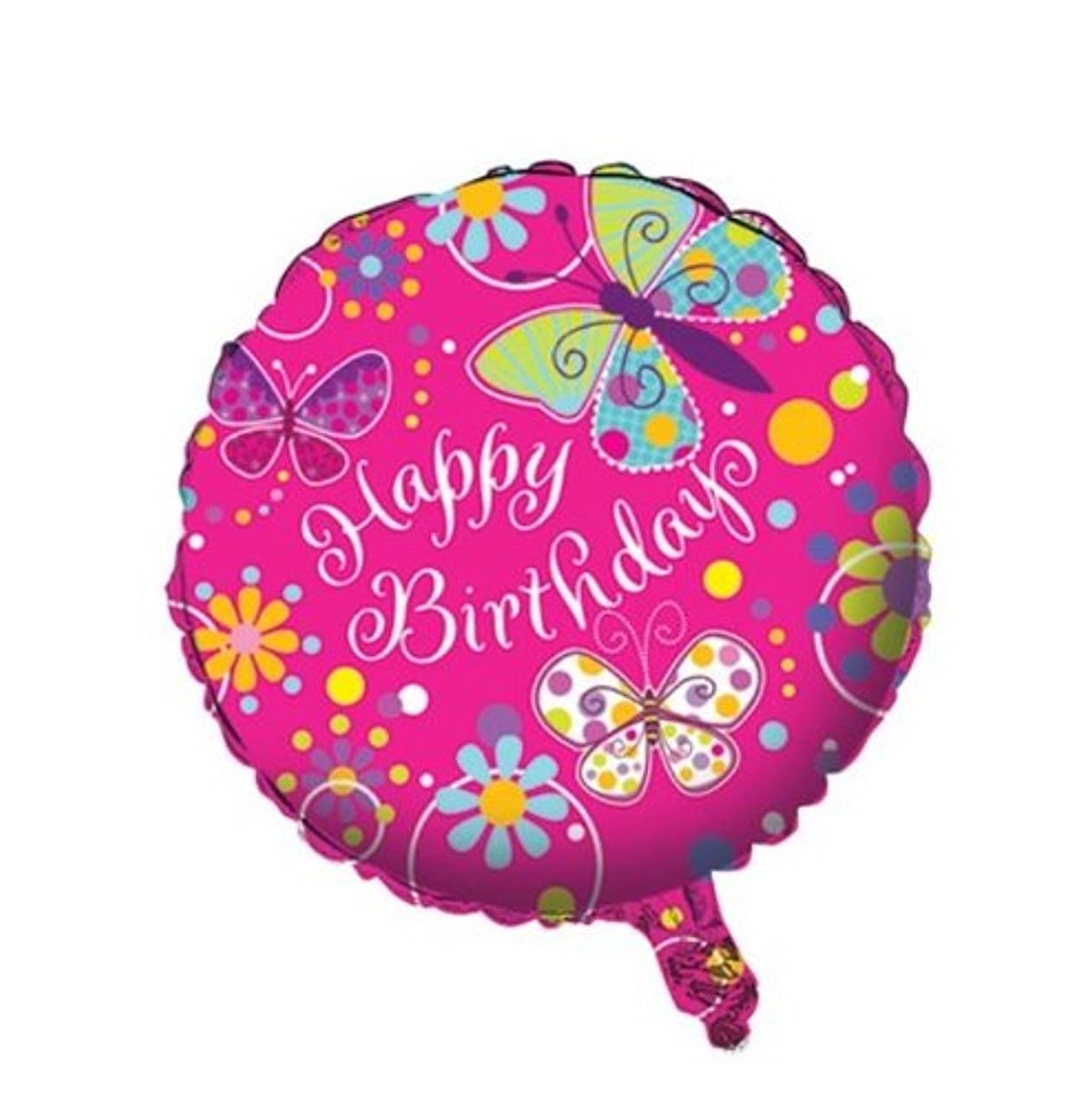 Two-Sided Mylar Foil Round Balloon, Butterfly Sparkle