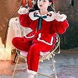 YWSZJ Nuevos niños Invierno Pijamas Girls Loungewear Ropa de Coral Fleece niños Pijamas Franela cálida Ropa de Dormir Homewear Adolescente Pijama Set (Color : Red, Size : 120cm)